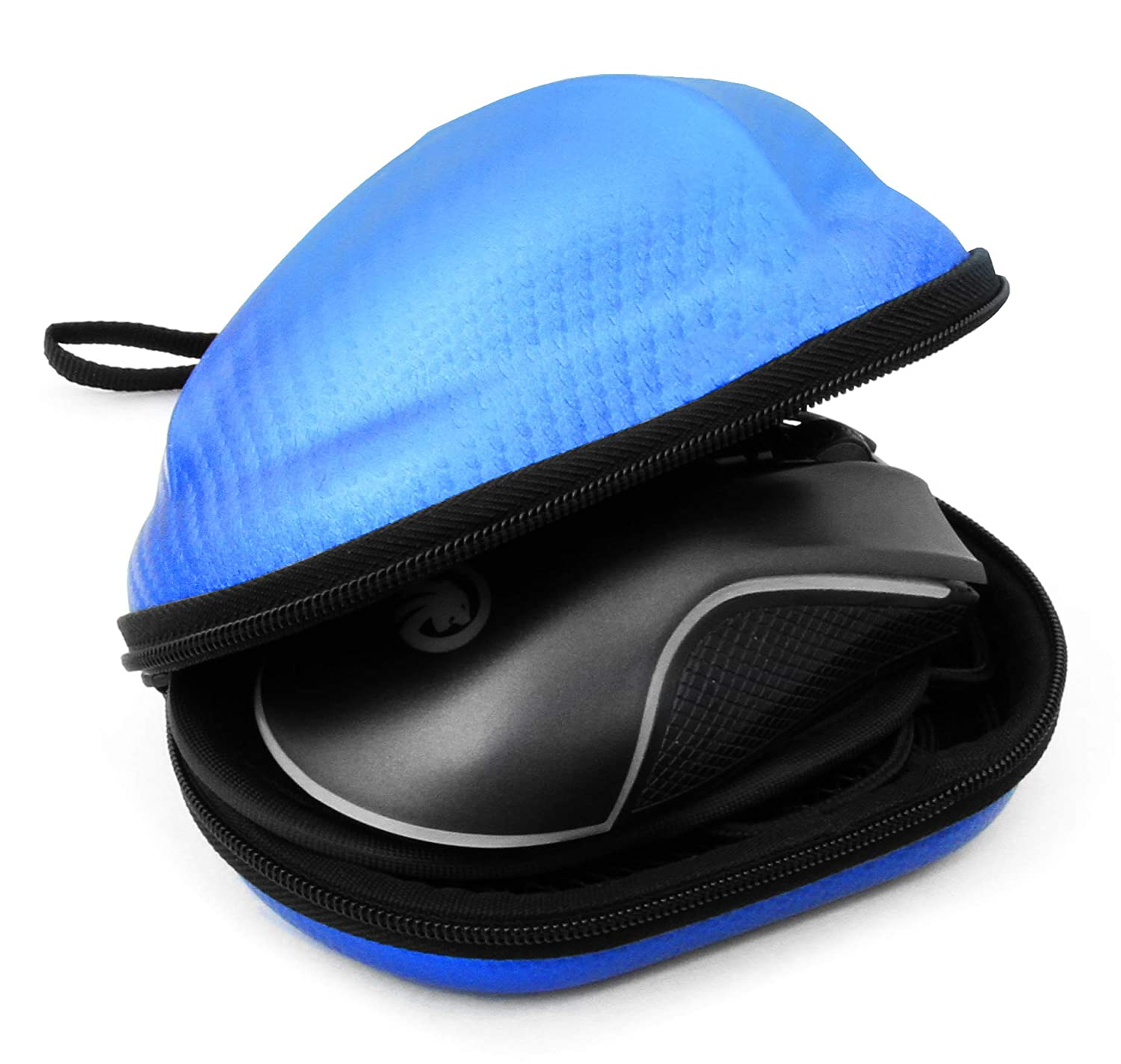 Amazon.com: CASEMATIX Carbon Fiber Blue Gaming Mouse Travel ...