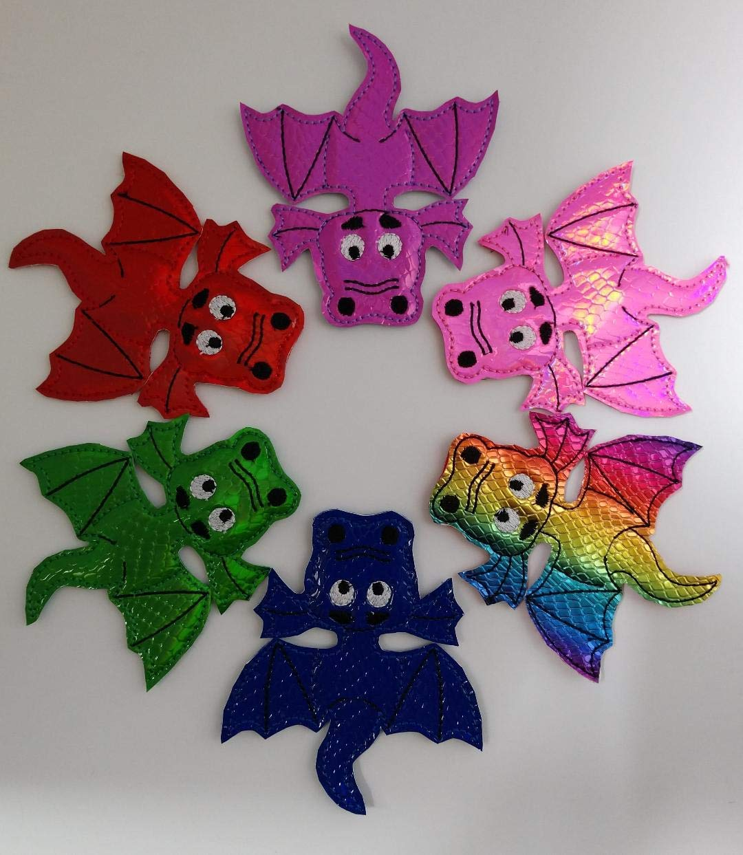 Dragon Finger Puppets for Toddler Kids Storytelling Play Toy Party Favor- 6 Piece Set
