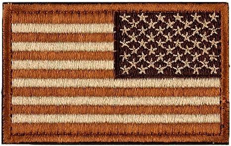 Bandera Americana (brazo derecho) Reverse moral parche con Velcro por Backwoods Barnaby (2 x 3), Desert Coyote: Amazon.es: Deportes y aire libre