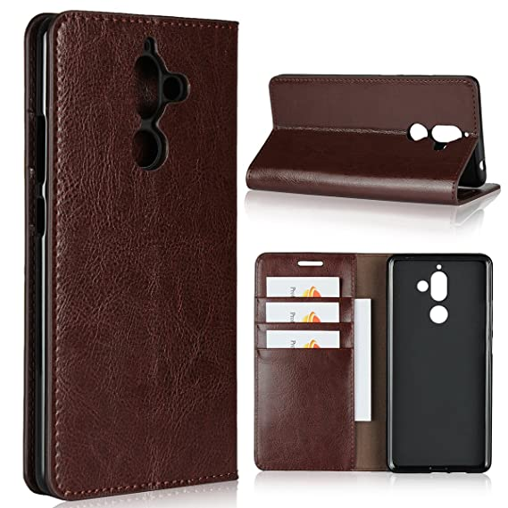 best service 95526 c9081 Nokia 7 Plus Wallet Case, Jaorty Genuine Leather Folio Flip Case Cover Book  Design with Kickstand Feature with Card Slots/Cash Compartment for Nokia 7  ...