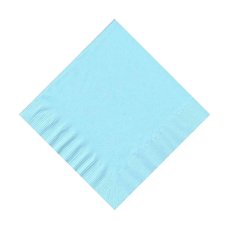 50プレーンソリッド色飲料カクテルナプキンペーパー – ライトブルー B0081ZAVBY