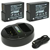 Wasabi Power Battery (2-Pack) and Dual USB Charger for Panasonic DMW-BLC12, DMW-BLC12PP, DE-A79, DE-A79B