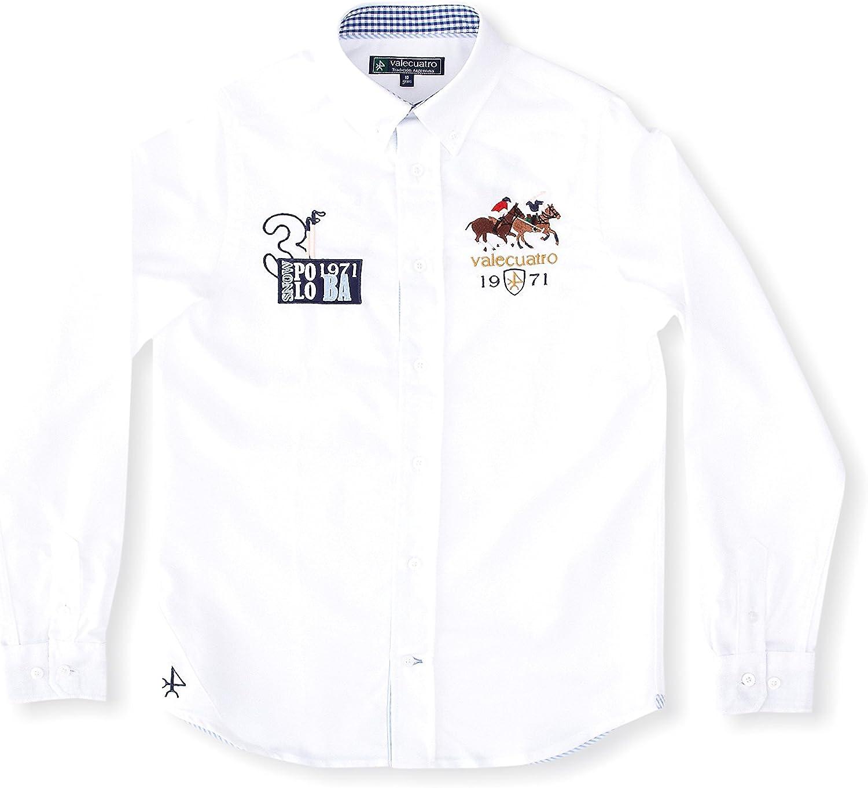 Valecuatro Camisa Casual Caballos Blanco 4 años (104 cm ...