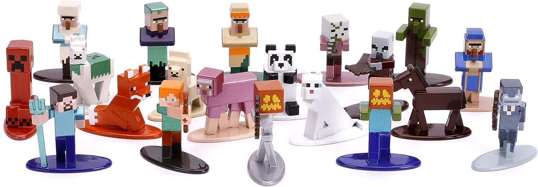 "Jada Toys Nano METALFIGS Minecraft 100-Pack Wave 100, 10.10"" Die-Cast  Collectible Figures 10010410010"