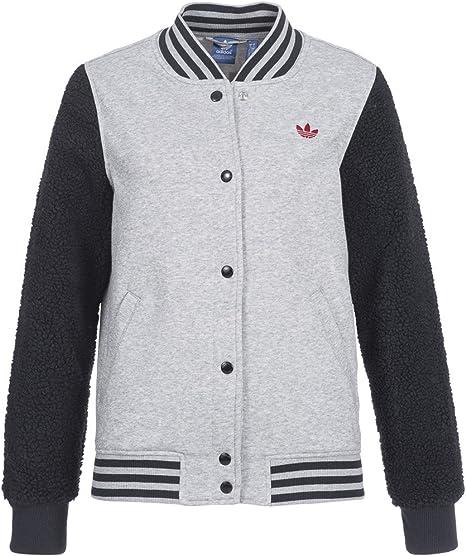 Adidas Varcity Bulls giacca sportiva Donna Grigio: Amazon.it