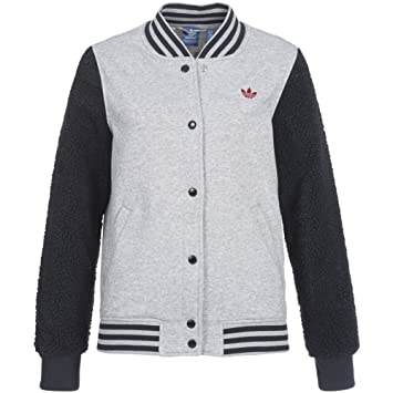 Grau Jacke Adidas Damen Sportjacke Sport Bulls Varcity qXxxPwgFA