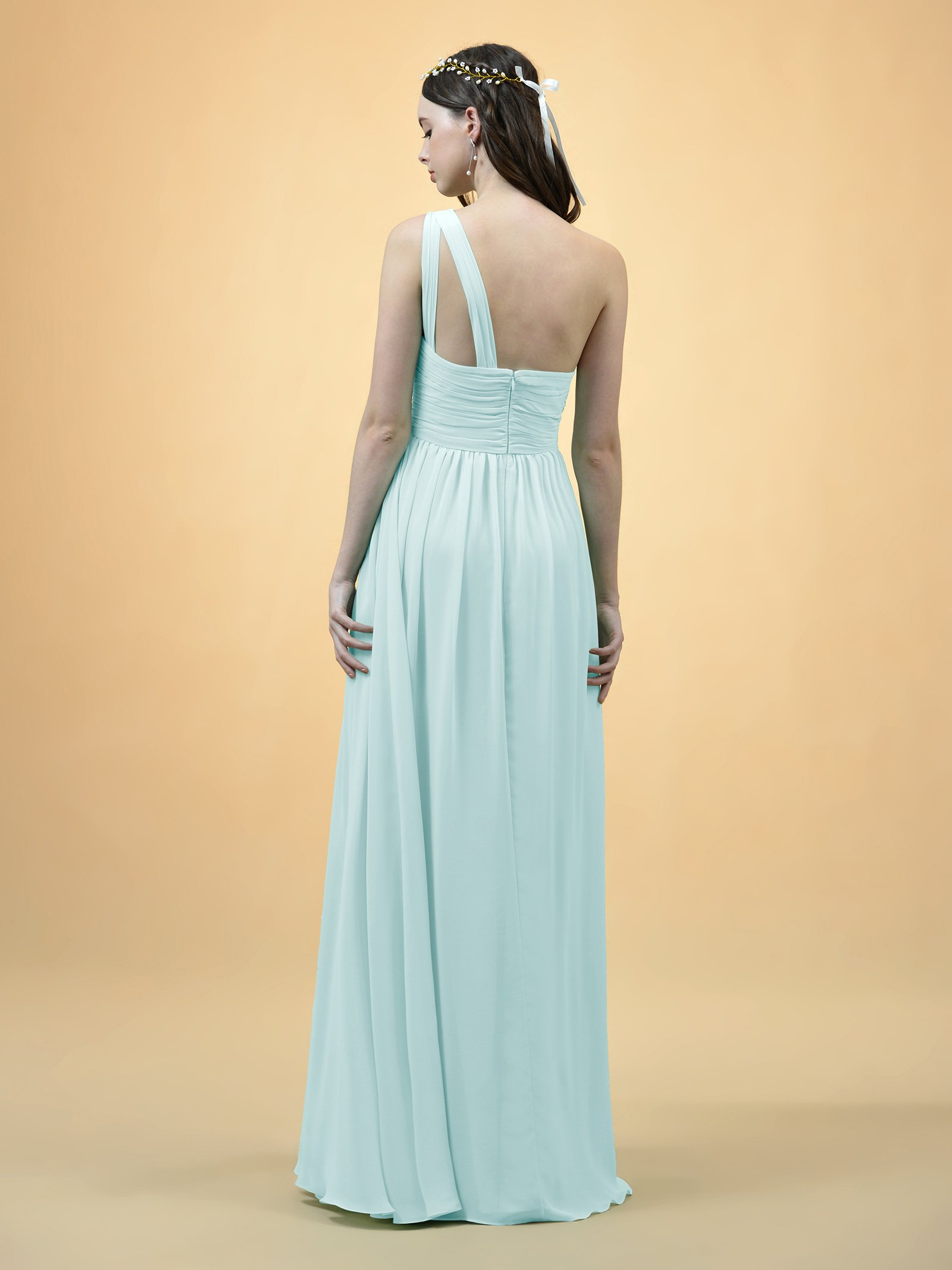 512797382 ... Dresses/Alicepub One Shoulder Bridesmaid Dress for Women Long Evening  Party Gown Maxi, Mint Green, US8. ; 