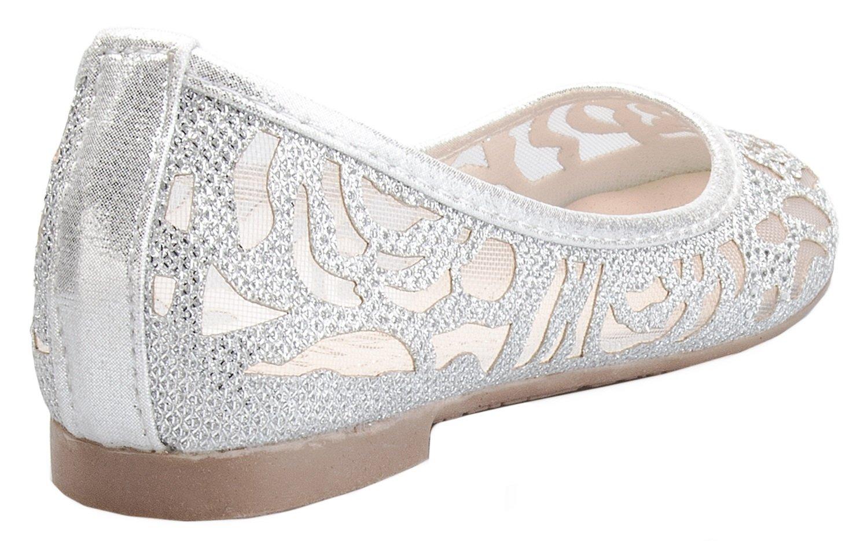 OLIVIA K Girl's Glitter and Mesh Detail Slip On Ballet Flats (Toddler/ Little Girl) by OLIVIA K (Image #3)