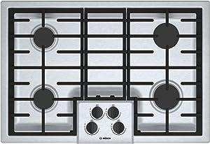"Bosch 500 Series 30"" Stainless Steel 4 Burner Gas Cooktop"