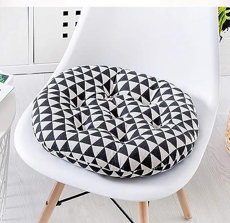 Q&F Ronda de Amortiguador de la Silla de Restaurante al Aire Libre Cojines sillas Jardin Exterior Antideslizante Confort Comedor Cojines para Silla Decoración de Tatami-R 45x45cm(18x18inch): Amazon.es: Hogar
