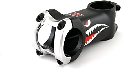 80mm DaBomb Shark Stem Forged Aluminum 31.8mm Clamp Dia Black - Ext