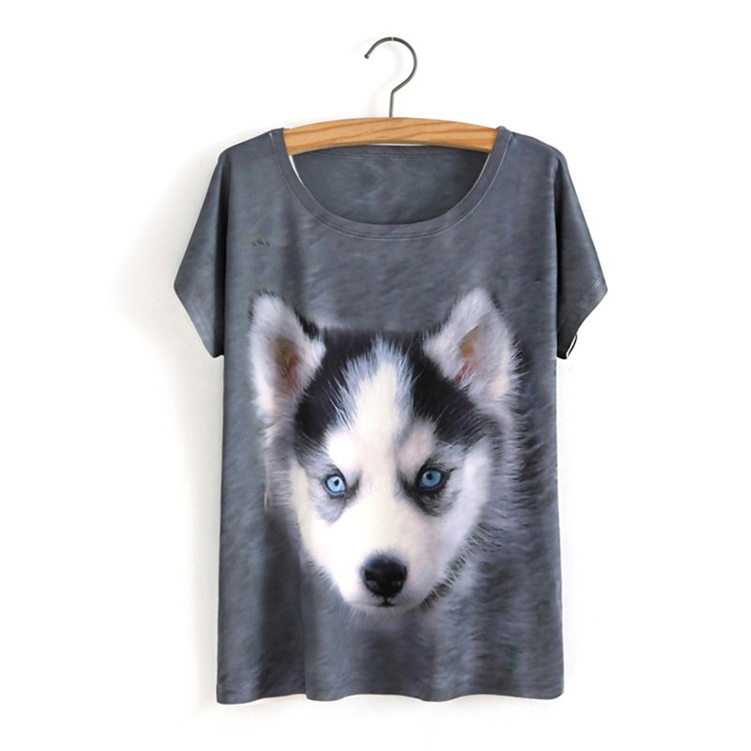 Amazon.com: Acereima New Women Cartoon T Shirt 3D Animal Dog Print T-Shirt Harajuku Tshirt Homme Camisetas Mujer One Size 1 One Size: Clothing
