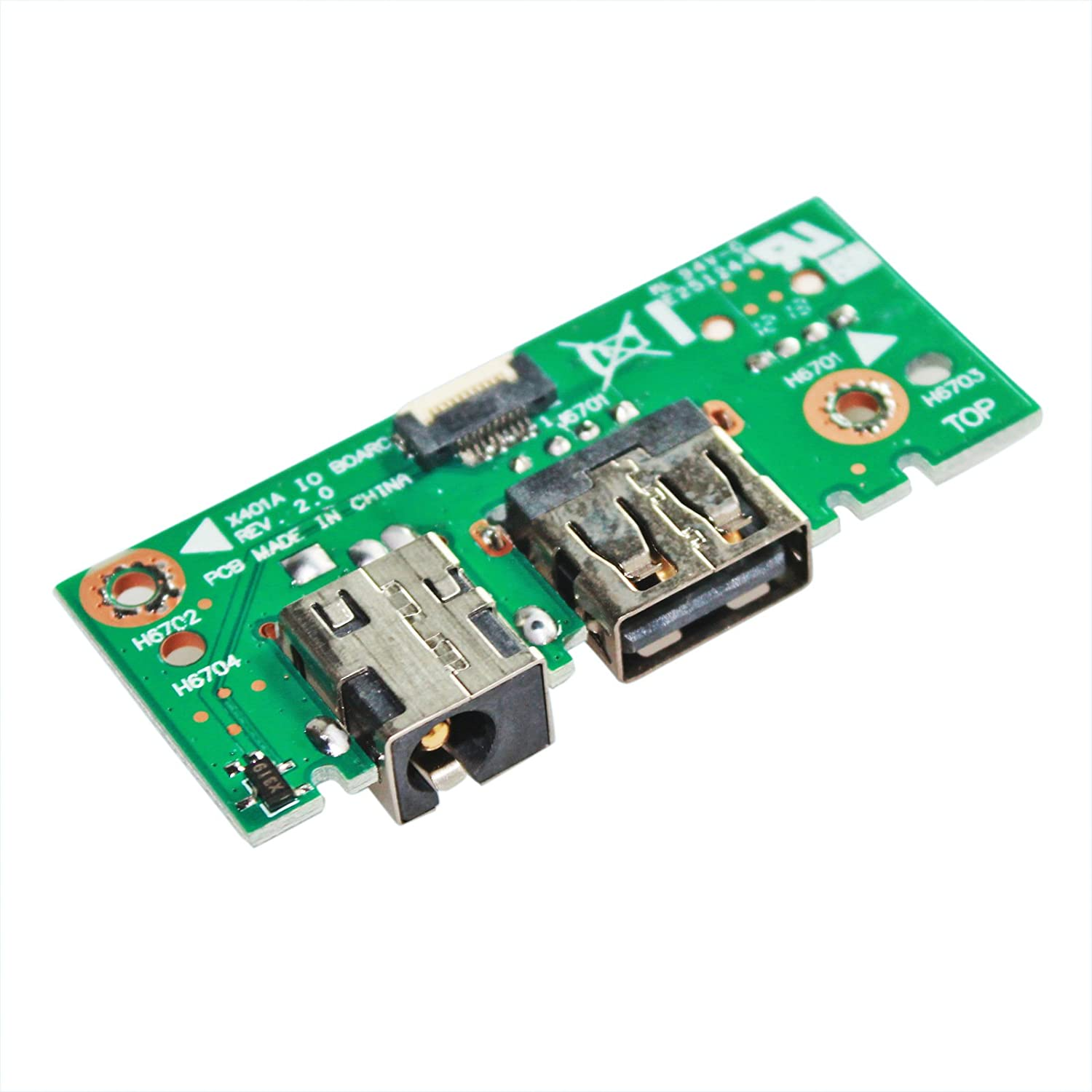 GinTai Laptop DC Power Jack USB Board Replacement for Asus X501A X401A F401A X301A F301A