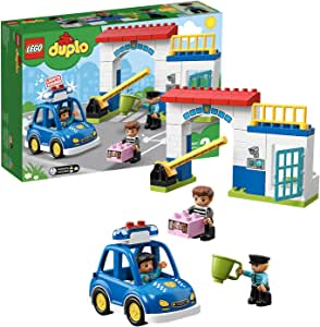 LEGO DUPLO Town Police Station 10902 Building Blocks, 2019 (38 Pieces)