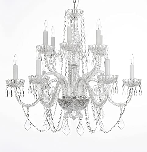 Asfour crystal chandelier lighting chandeliers 12 lights 2 tiers asfour crystal chandelier lighting chandeliers 12 lights 2 tiers h26quot x w31quot aloadofball Choice Image
