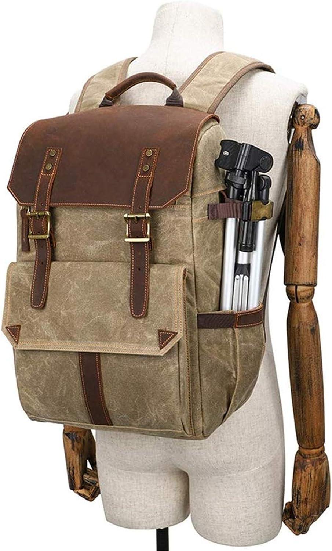 Vintage Camera Bag Backpack Professional Large Capacity Waterproof Travel Bag SLR Camera Lens Bag LHY Camera Backpack