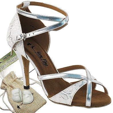 6b37e80d2 Women's Ballroom Dance Shoes Tango Wedding Party Salsa Dance Shoes White &  Silver 2829LEDSSEB Comfortable -