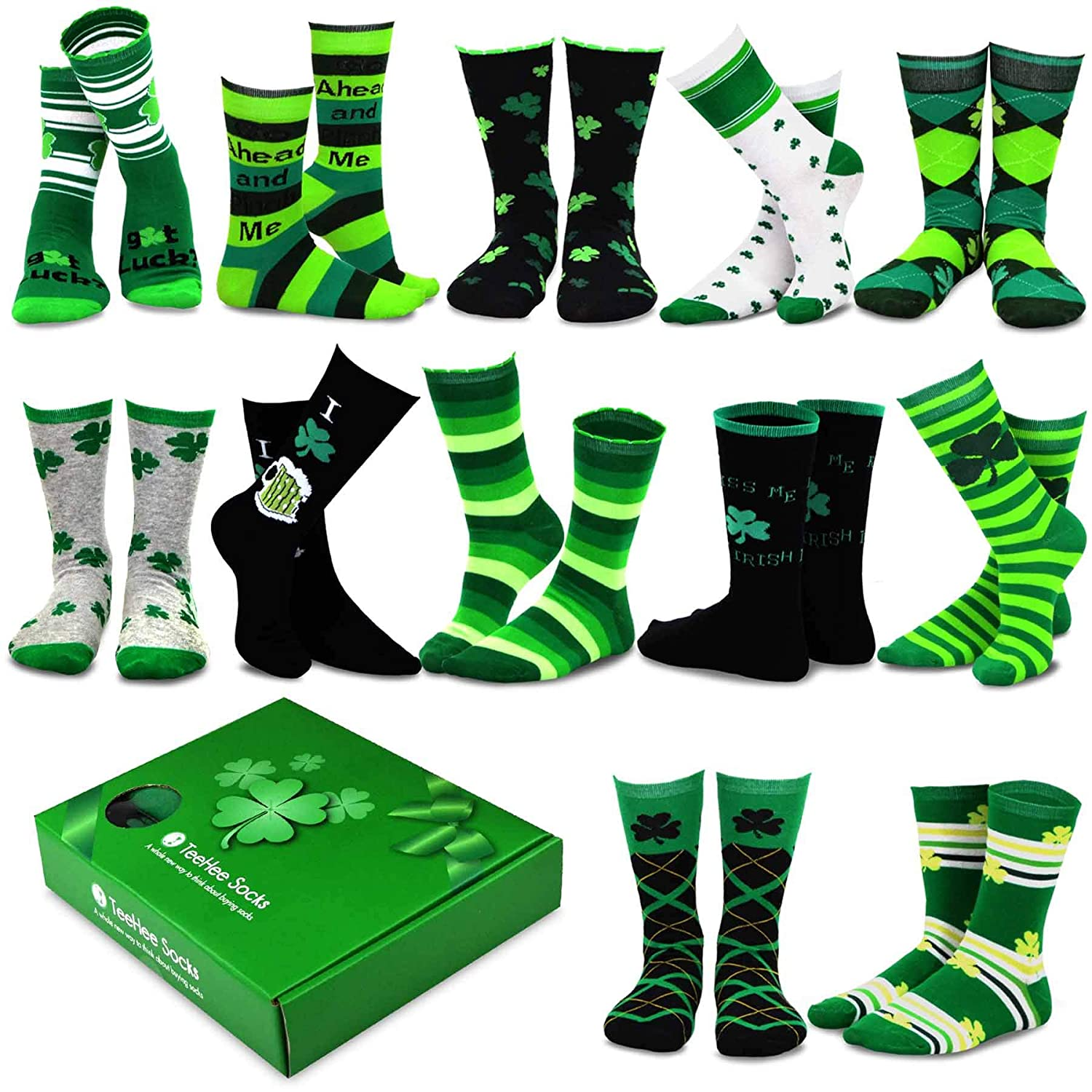 TeeHee Special (Holiday) 12-Pairs Socks with Gift Box. Soxnet Inc