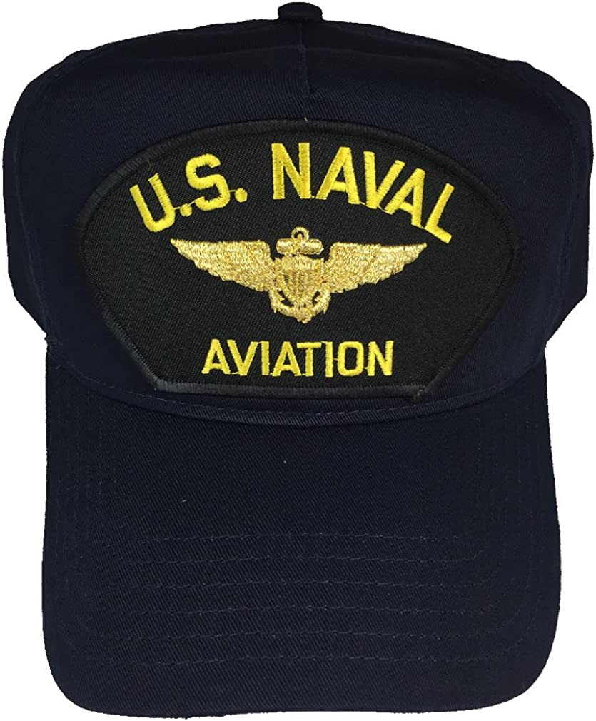 Veteran Owned Business NAVY BLUE NAVY WWII Veteran Hat with ribbons and Navy Crest Cap U.S