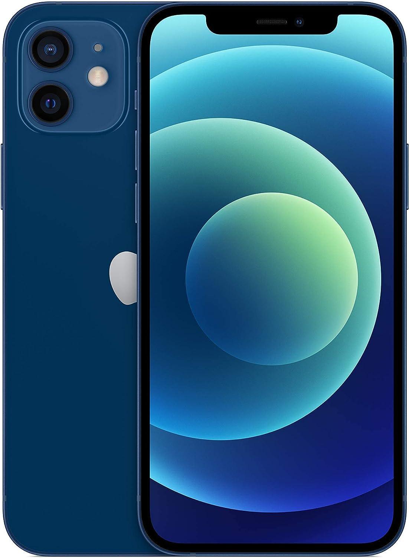 Apple iPhone 12, 64GB, Blue - Fully Unlocked (Renewed)
