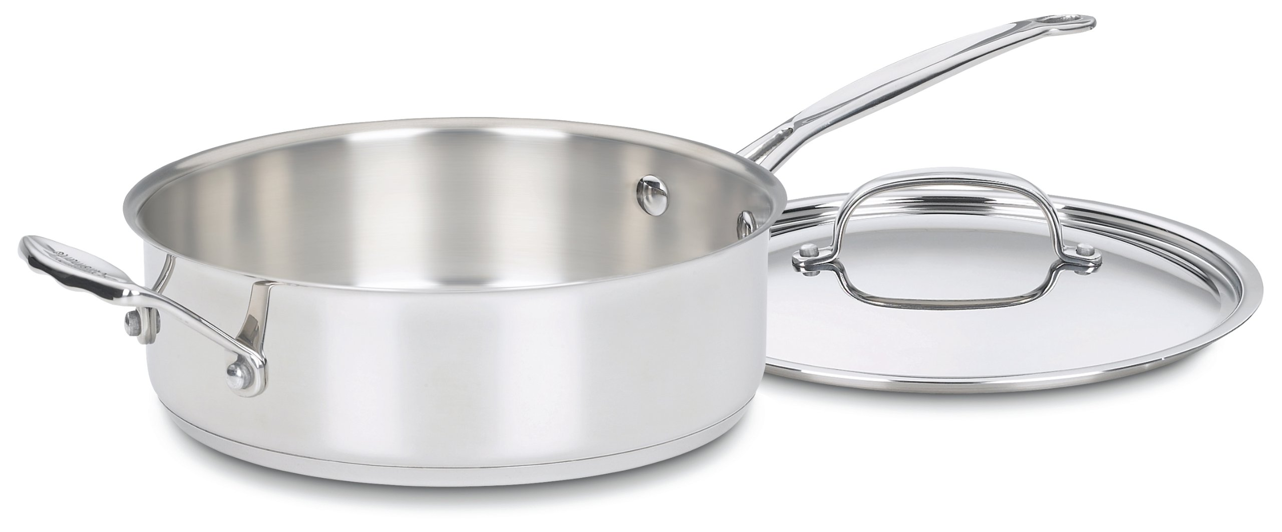 Cuisinart 733-24H Chef's Classic Stainless 3-1/2-Quart Saute Pan with Helper Handle & Cover by Cuisinart