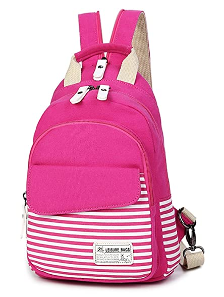 ... Amazon com Lightweight Womens Small Canvas Backpack Purse for Teen 8b9a3d1589200
