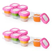OXO Tot Baby Blocks Freezer Storage Containers, Pink, 2 Ounce Set of 12
