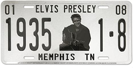 Midsouth Products Elvis License Plate 1Elvis