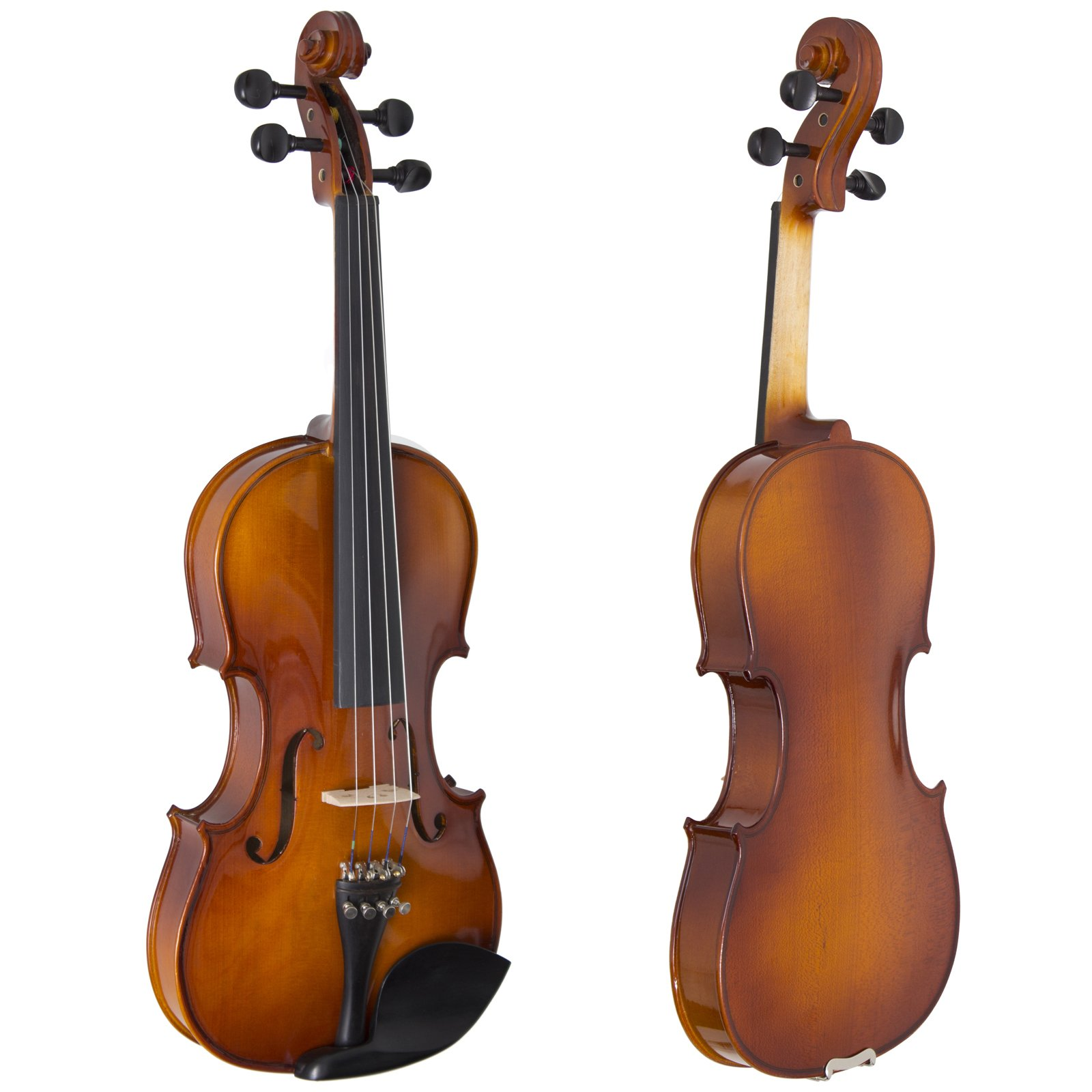 Cecilio CVN-320L Solidwood Ebony Fitted Left-Handed Violin with D'Addario Prelude Strings, Size 4/4 (Full Size) by Cecilio (Image #2)