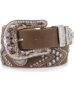 Angel Ranch 1 1//2 Dark Brown Ladies Fashion Belt