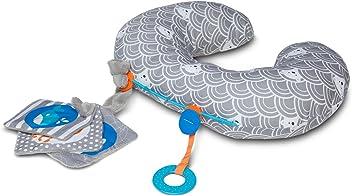 Boppy Tummy Time Pillow, Sea Explorers Gray