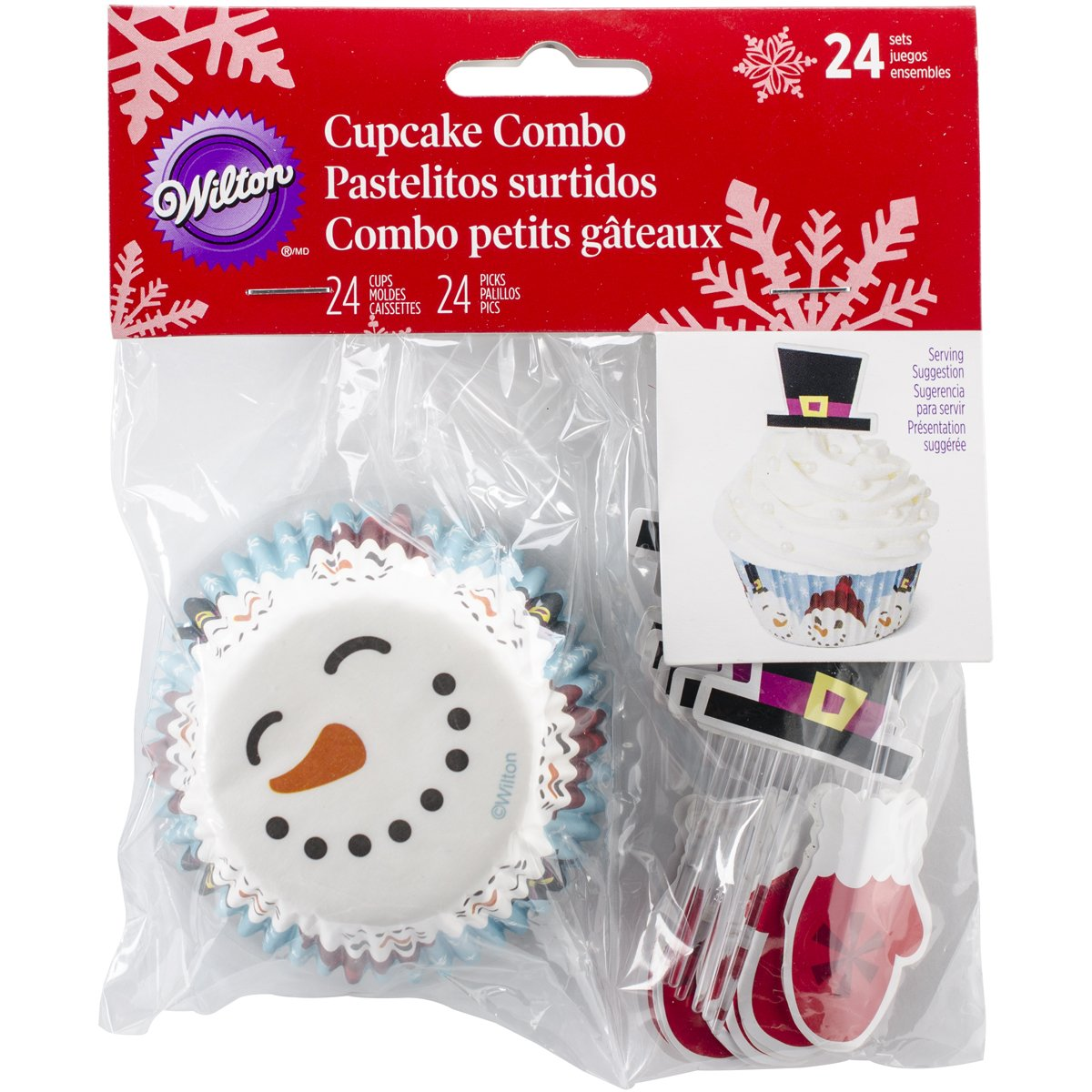 Wilton Christmas Merry and Sweet Cupcake Combo Baking Cups and Picks Wilton Industries 415-2663