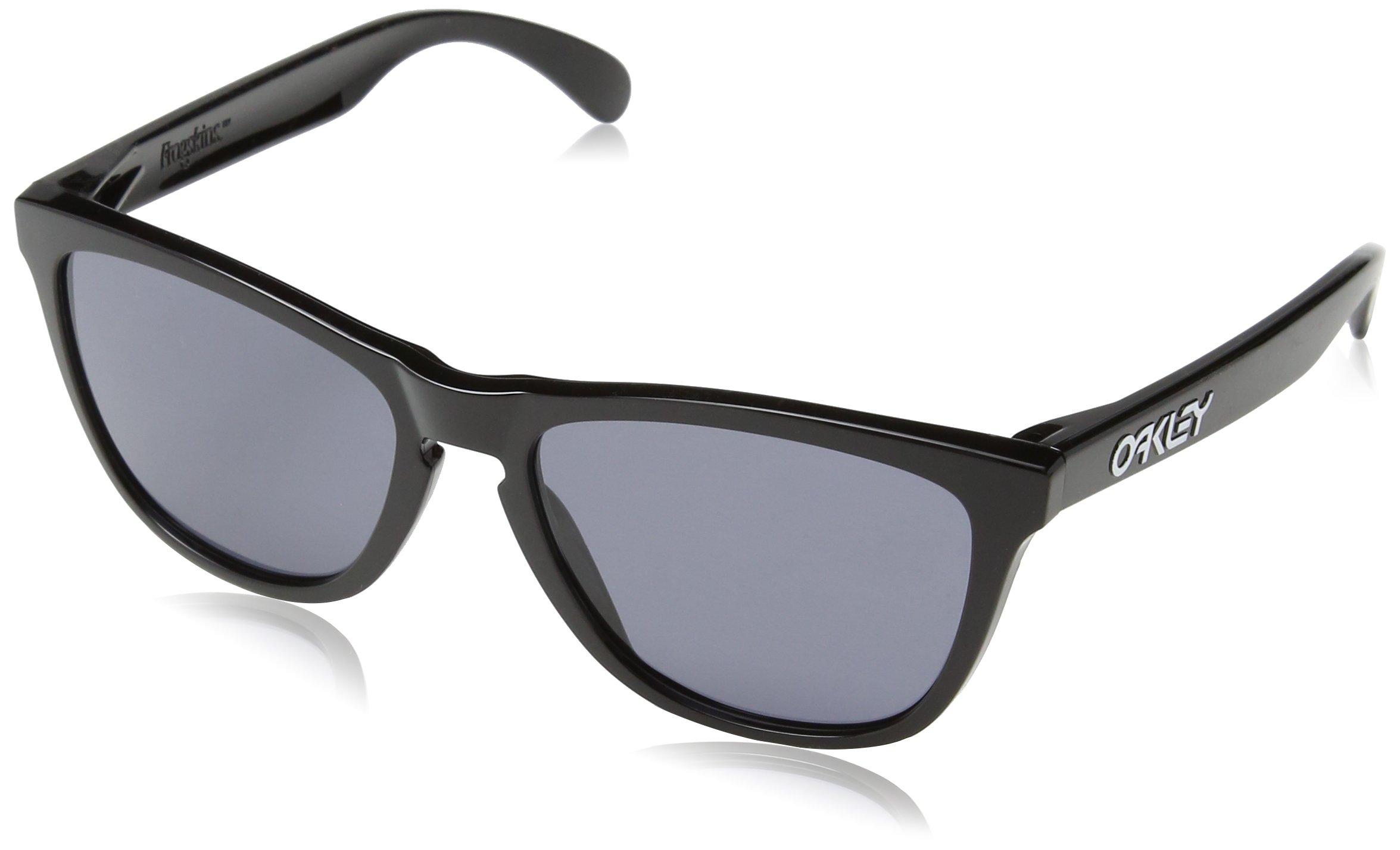 Oakley Men's Frogskins (a) Polarized Iridium Rectangular Sunglasses, Matte Brown Tortoise, 54 mm