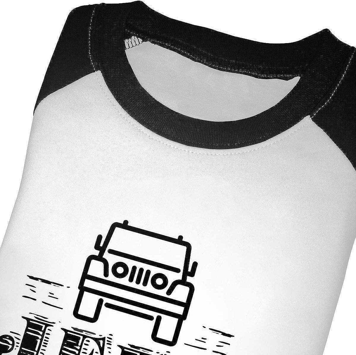 Jeep Raglan 3//4 Sleeve Shirts for Girl Boys
