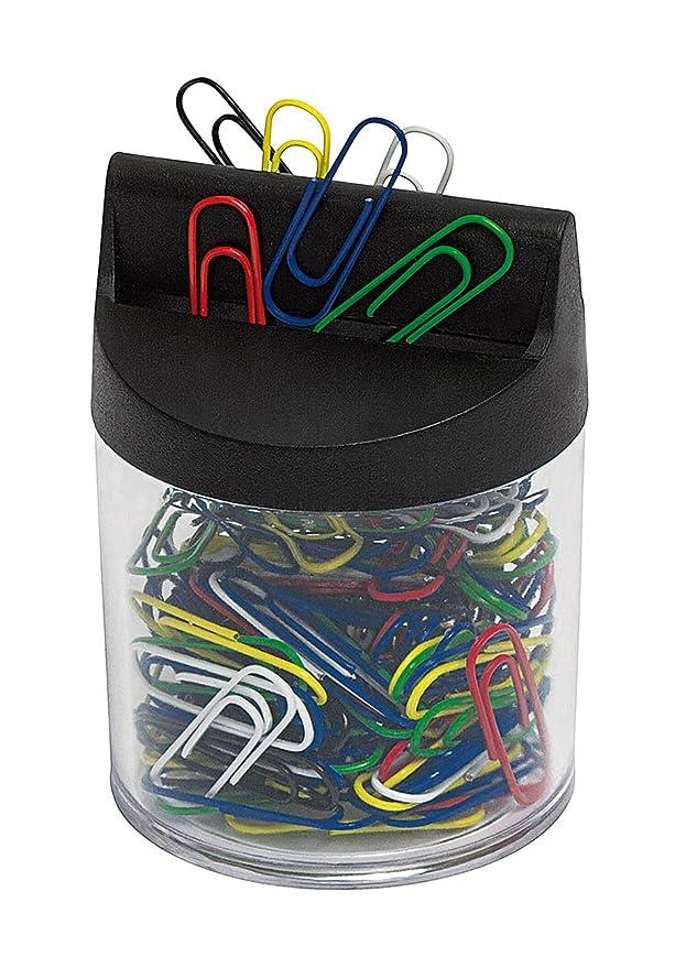 Büroklammernspender magnetisch mit 100 bunt lackierten Büroklammern