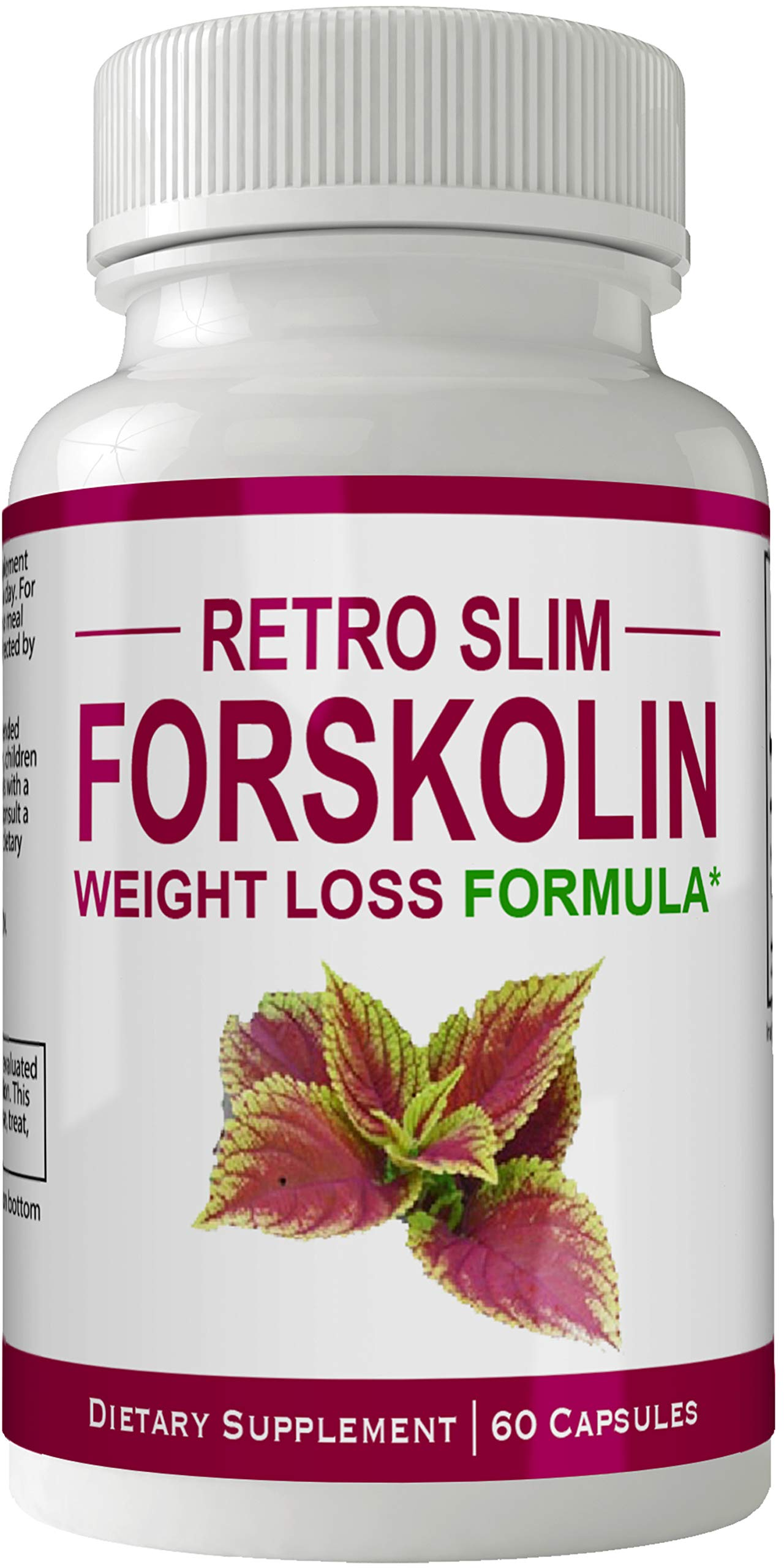Retro Slim Forskolin for Weight Loss Pills Tablets Supplement - Capsules with Natural High Quality Pure Forskolin Extract Diet Pills