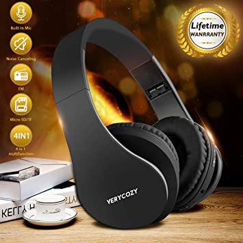 Cascos Bluetooth Inalambricos,Over Ear Auriculares Bluetooth ...