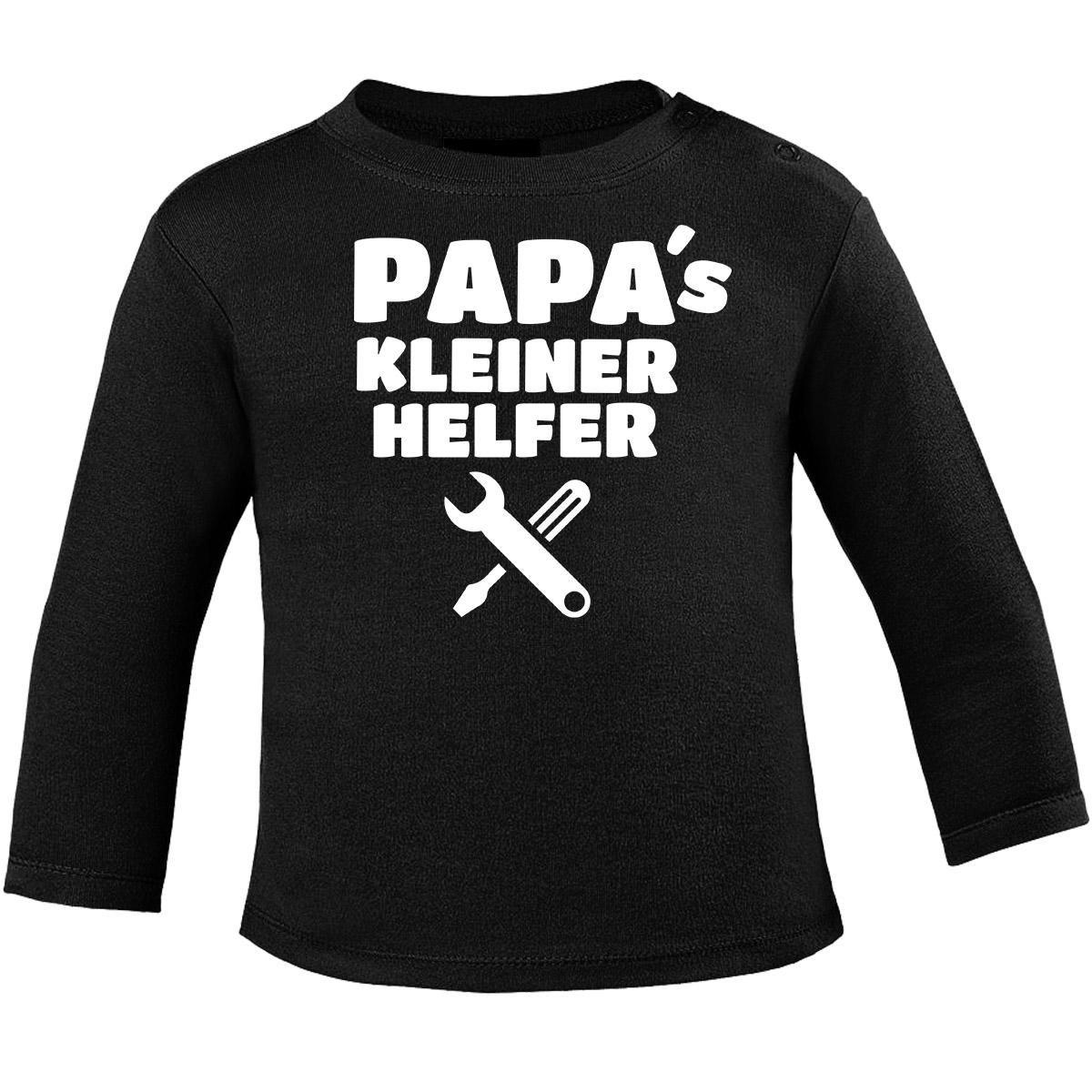 Mikalino Baby Longsleeve Papa s Kleiner Helfer