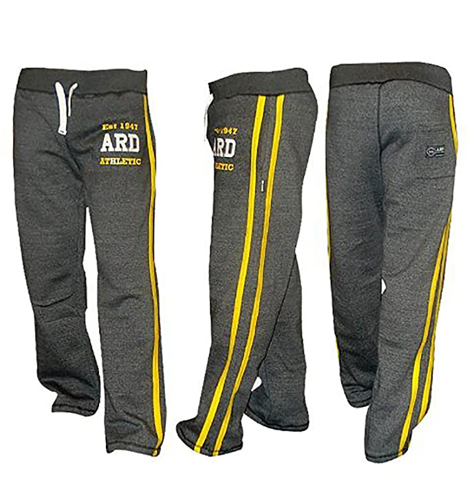 adc748a54f97 Men s Fleece Joggers Bottom Jogging Exercise Fitness Gym Sweat Cotton  Trousers