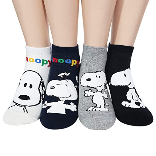 e717f36b49f0cf The Peanuts Snoopy Women and teen girls Licensed Socks Collection Socksense  (Basic Snoopy 4pairs)