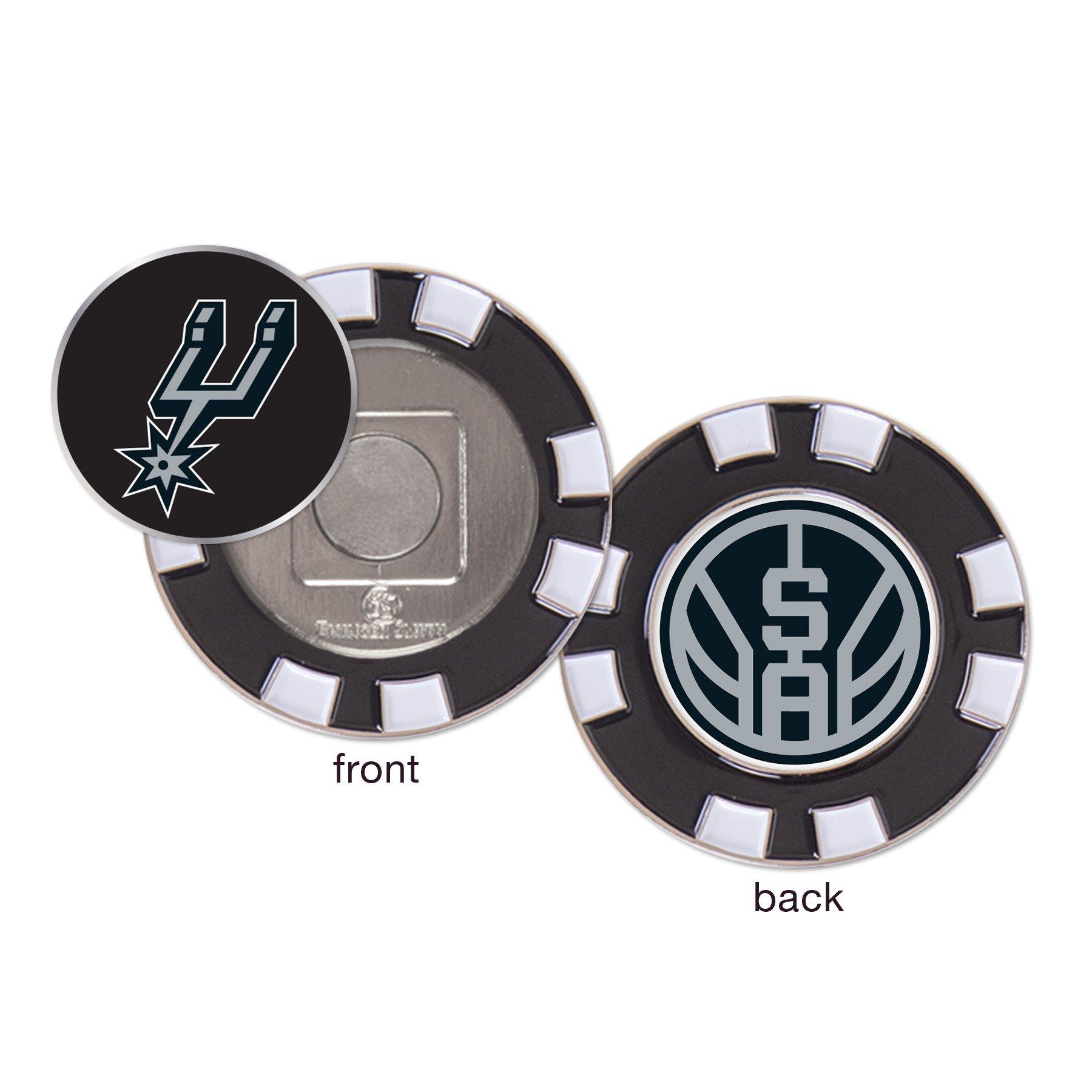 San Antonio Spurs NBA Poker Chip Golf Ball Marker by WinCraft