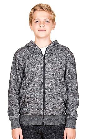 bf87ad601 Brooklyn Athletics Boys' Big Fleece Hoodie Full Zip Active Hooded Sweatshirt,  Black, Small