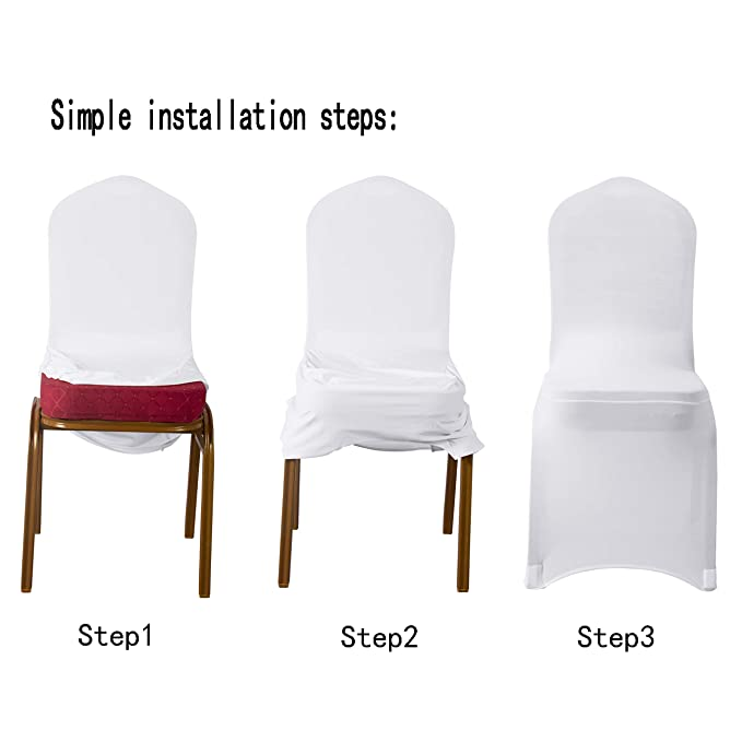 Amazon.com: Arcpic Fundas de silla de comedor de licra ...