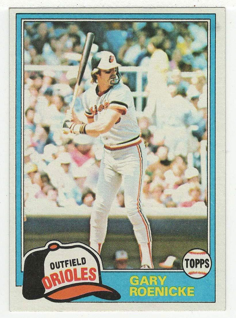 Amazoncom Gary Roenicke Baseball Card 1981 Topps 37 Nmmt