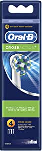 Oral-B Cross Action Replacement Electric Toothbrush Heads Refills, 4 pack