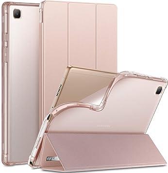 INFILAND Coque pour Galaxy Tab A7 10.4 2020 avec support arrière translucide givré pour tablette Samsung Galaxy Tab A7 10.4