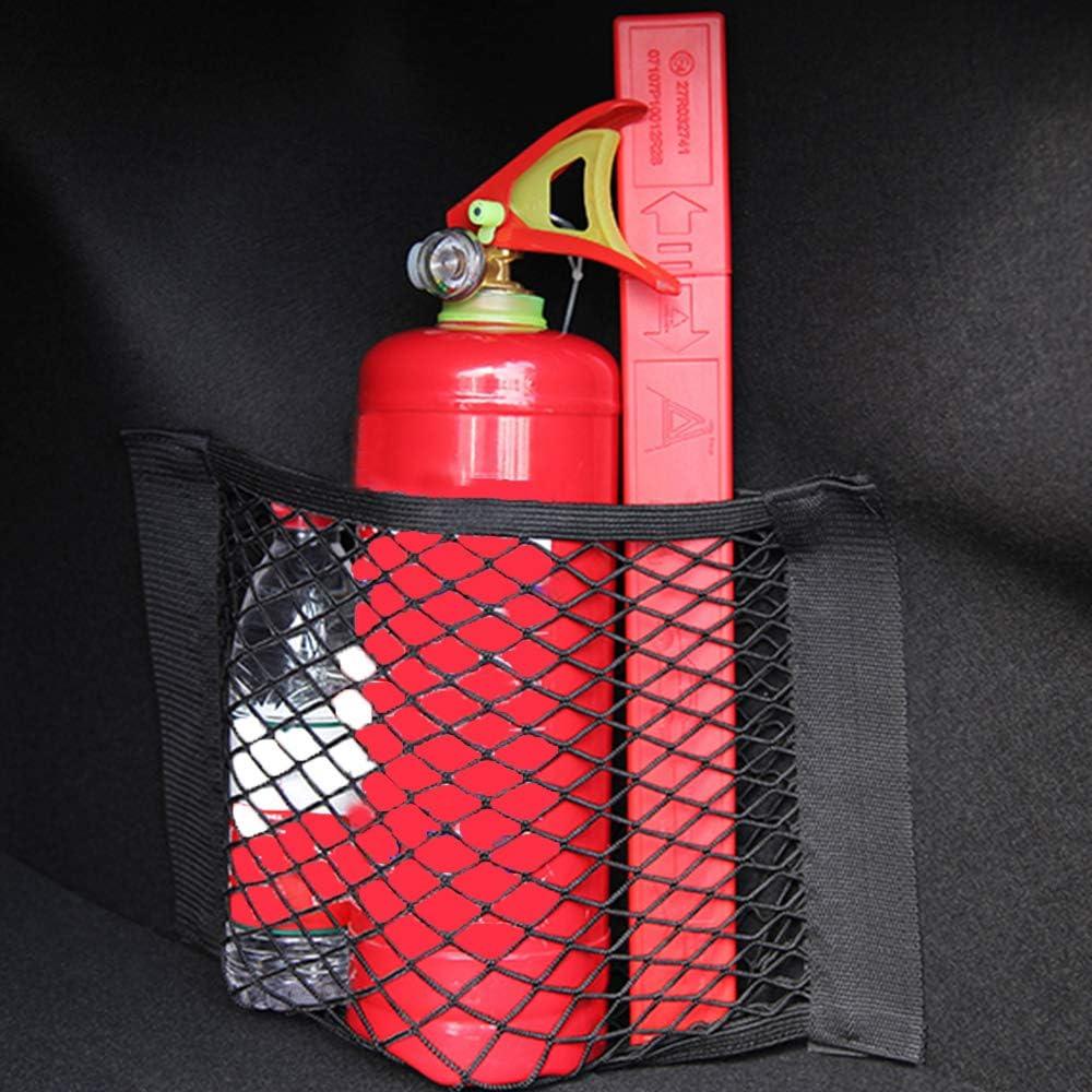 25 Cm Red de Carga de Malla Universal Organizador de Maletero con Pegatinas de Bolsillo Para Portaequipajes de Coche de 40