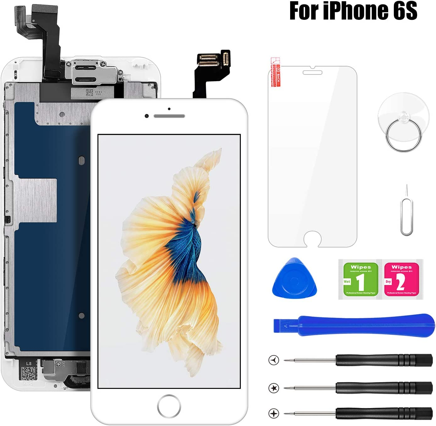 BuTure Pantalla Para iPhone 6S Blanco 4.7