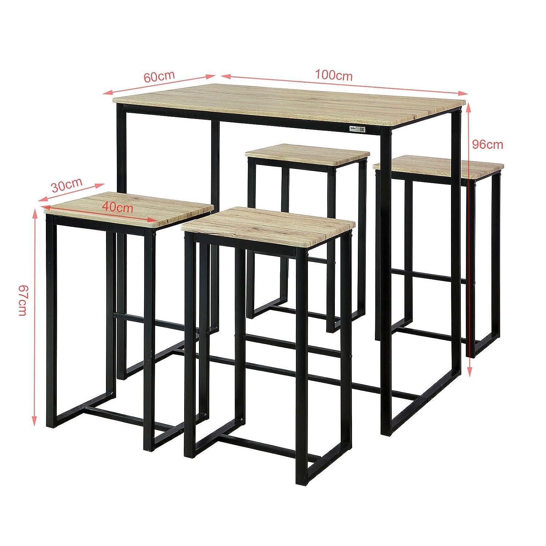 Bartisch Esstisch mit N Stühlen 5 SoBuy teilig OGT15 OnPw0X8k