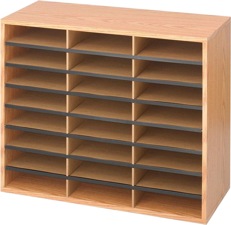 Safco Libreria//Casellario regolabile in legno con 16 scomparti